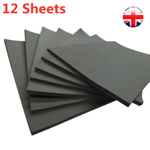 12 Sheets 10mm Sound Proofing Deadening Insulation Closed Cell Foam For Car Auto