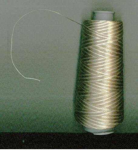 NMMK602 Klöppeln melliertes Garn zweifarbig natur BW Klöppelgarn NEU NEL 60//2