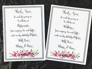 10 white wedding or engagement thank you cards envelopes