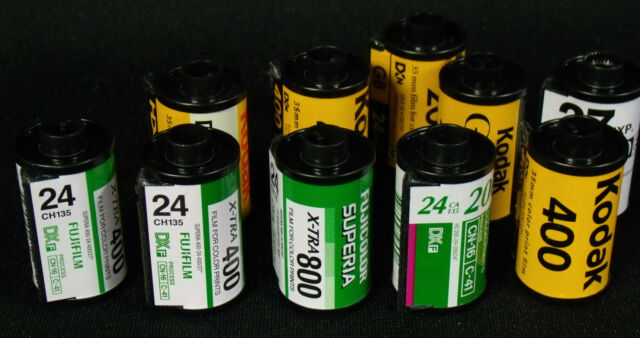 35mm film 10 roll developing service, 4x6 prints, and CD of each roll!