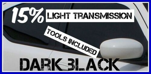 DARK BLACK 15/% LIGHT TRANSMISSION CAR WINDOW TINTING FILM 3m X75cm TINT+FREE KIT