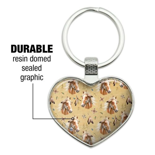 Details about  /Palamino Horse Selfie Pattern Heart Love Metal Keychain Key Chain Ring