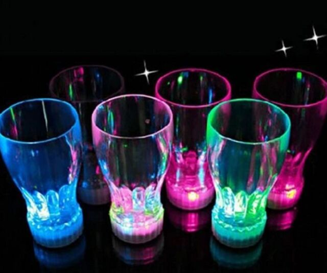 7 Color LED Light Flashing Beer Mug Drink Cup For Bar Party Wedding Clubs KTV