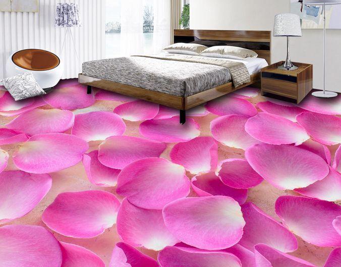 3D Lush Pink Petals Floor WallPaper Murals Wall Print Decal 5D AJ WALLPAPER