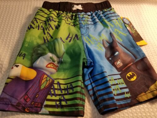 BOYS SWIMMING TRUNKS//SHORTS~SIZE 6//7~LEGO BATMAN