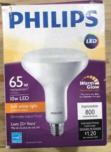 Details About Philips Led Dimmable Br40 Soft White Light Bulb With Warm Glow Effect 65 Watt