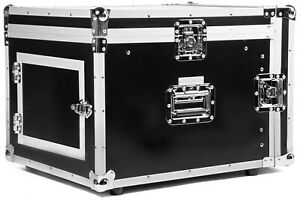 8/12 HE Kombicase ECO Winkelrack L-Rack DJ Rack Kombi Case Mixercase Flightcase