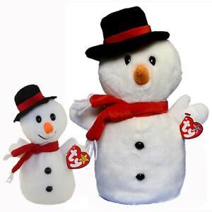 Retired /& New Ty Beanie Buddy Snowball the Snowman  2001
