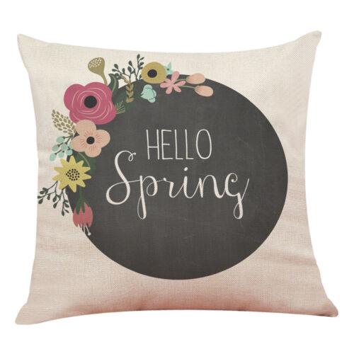 Oreiller Housse de coussin Hello Spring Jeter Oreiller Pillow Covers Home Decor