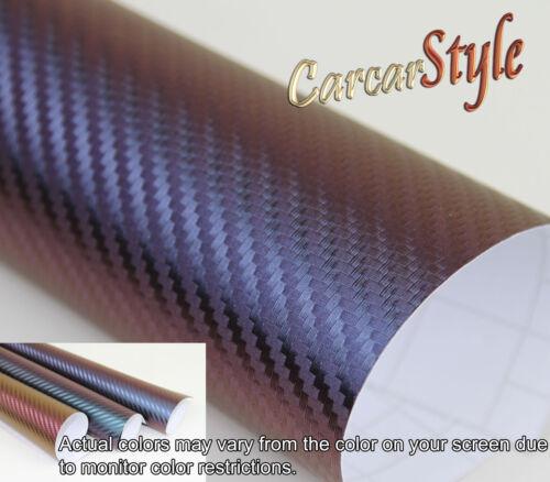 3D Carbonfaser Vinyl 100mm 59.8in x 1520mm Bezüge Film Sticker Blasenfrei 3.9in