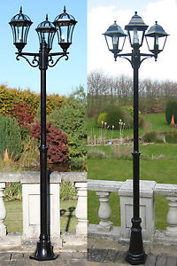 Traditional or victorian garden lamp post lights lighting single image is loading traditional or victorian garden lamp post lights lighting mozeypictures