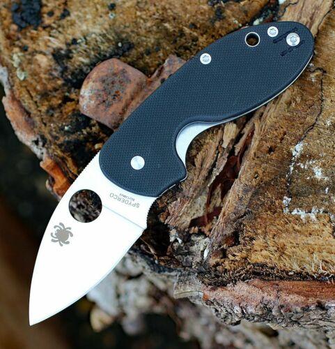 Couteau Spyderco Insistent Plain Lame Acier 8Cr13MoV Manche G10 SC246GP