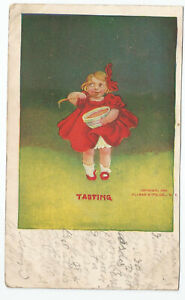 Artist-Signed-1906-postcard-Bernhardt-Wall-034-Senses-034-Series-Ullman-Tasting