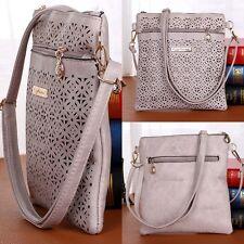 Damen Frauen Leder Hollow Tasche Messenger Designer Schulter Tasche Handtaschen