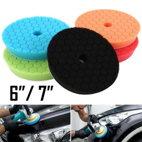 """5 Pack 6//7/"""" Polishing Sponge Waxing Buffing Pads Compound Auto Car Polisher NEW"""