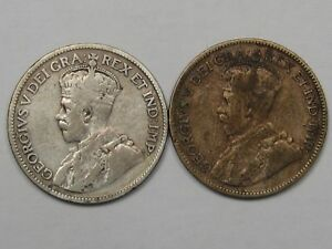 2-Silver-25-Cent-Canadian-Coins-1935-amp-1936-14