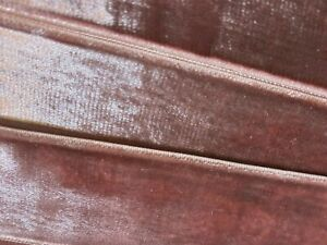 Vintage-1-5-034-Velvet-Ribbon-Trim-Rayon-English-Rose-1yd-Made-in-France