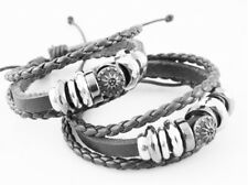 Classic genuine leather bracelet for Men and women Brown color New Design 5
