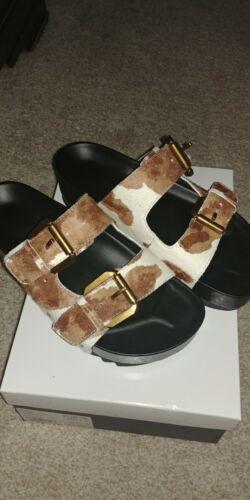 kurt geiger sandals Cow print