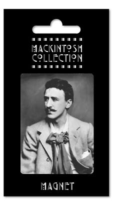 2019 Ultimo Disegno Charles Rennie Mackintosh Nero Bianco Foto Rettangolo Frigo Calamita Home Decor-