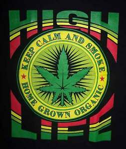 034-High-Life-Keep-Calm-and-Smoke-034-Marijuana-T-Shirts-MarTs149