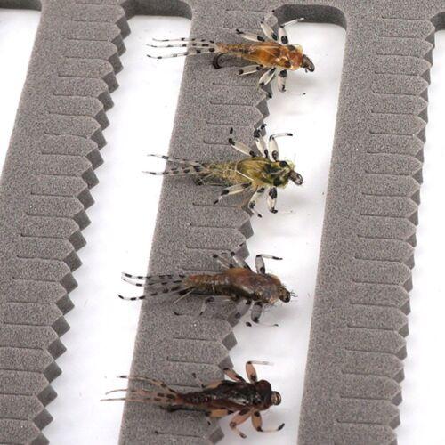 Riverruns Realistic Flies Mayfly Stone Caddis Dry Trout Nymph Wet Fishing Flies