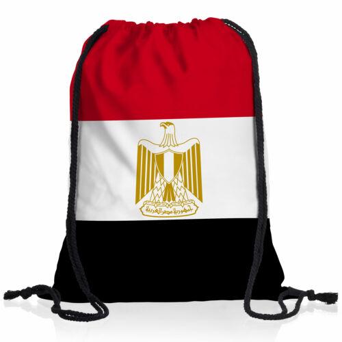 Ägypten Turn-Beutel National-Flagge WM EM Fan-Artikel Rucksackl Sport Uni Tasche