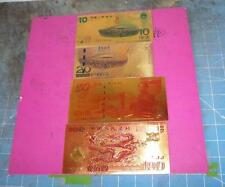 CHINA-MACAO 2008~4 FOIL STAMPED SOUVENIR CARDS~BEIJIN OLYMPIC GAMES ~GOLD FOIL