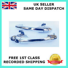 PAIR FOR 500 POP CC LOUNGE ABARTH LEFT/&RIGHT CHROME OUTER DOOR HANDLE RHD-UK