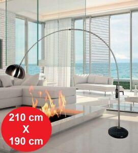 Dettagli Su Piantana Lampada Da Terra Ad Arco Curva Easy Stelo Da Design Metallo 210x190 Cm