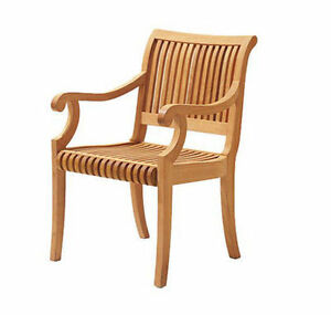 Details About Giva Grade A Teak Wood Dining Arm Chair Outdoor Garden Patio Furniture New