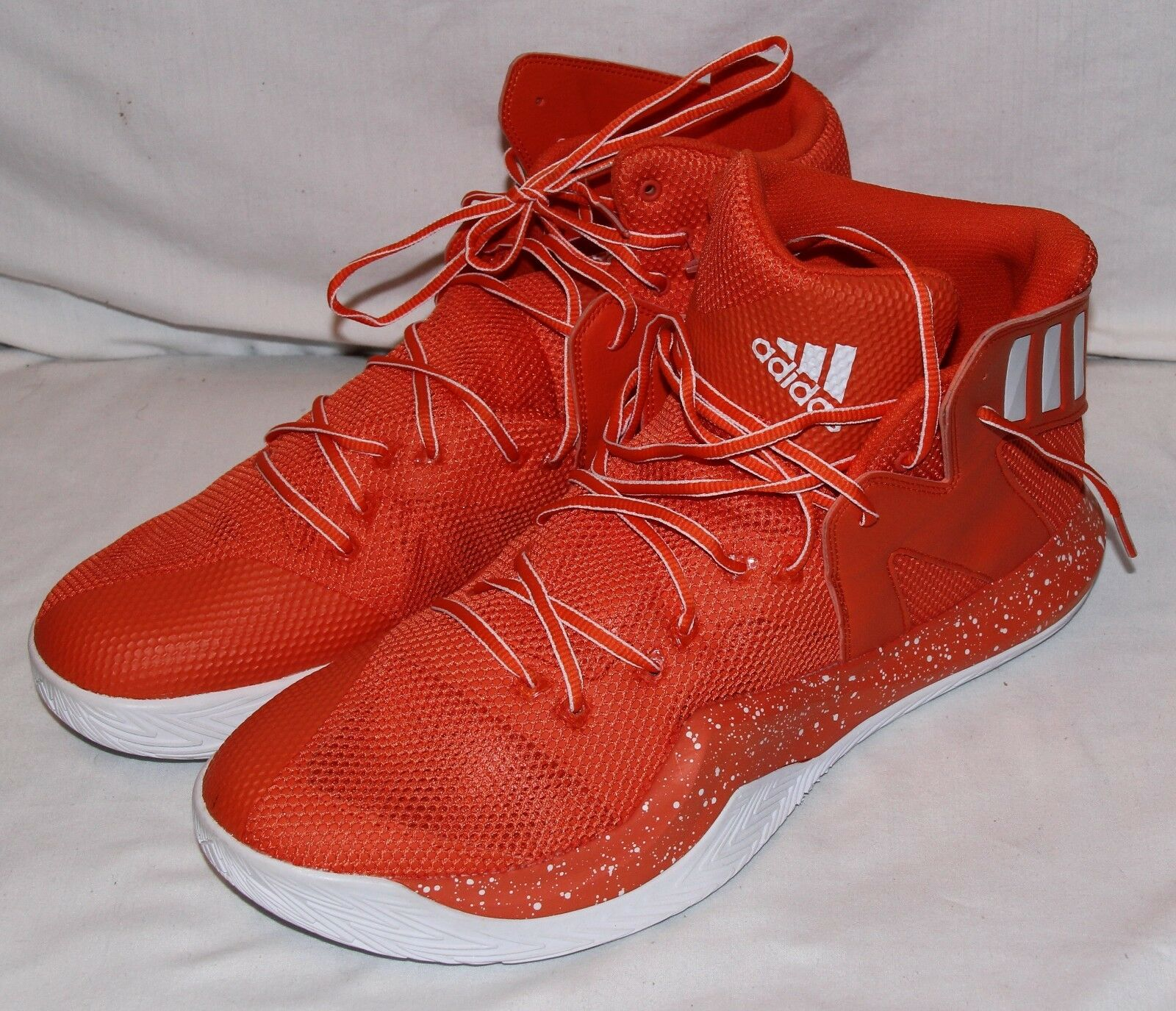 Adidas New Mens orange White Basketball shoes Sneakers Athletic 16