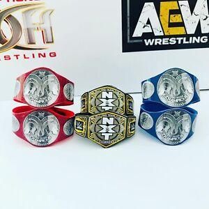 3-X-WWE-WWF-Tag-Team-Wrestling-cinturones-Set-para-Hasbro-Mattel-Jakks-figuras