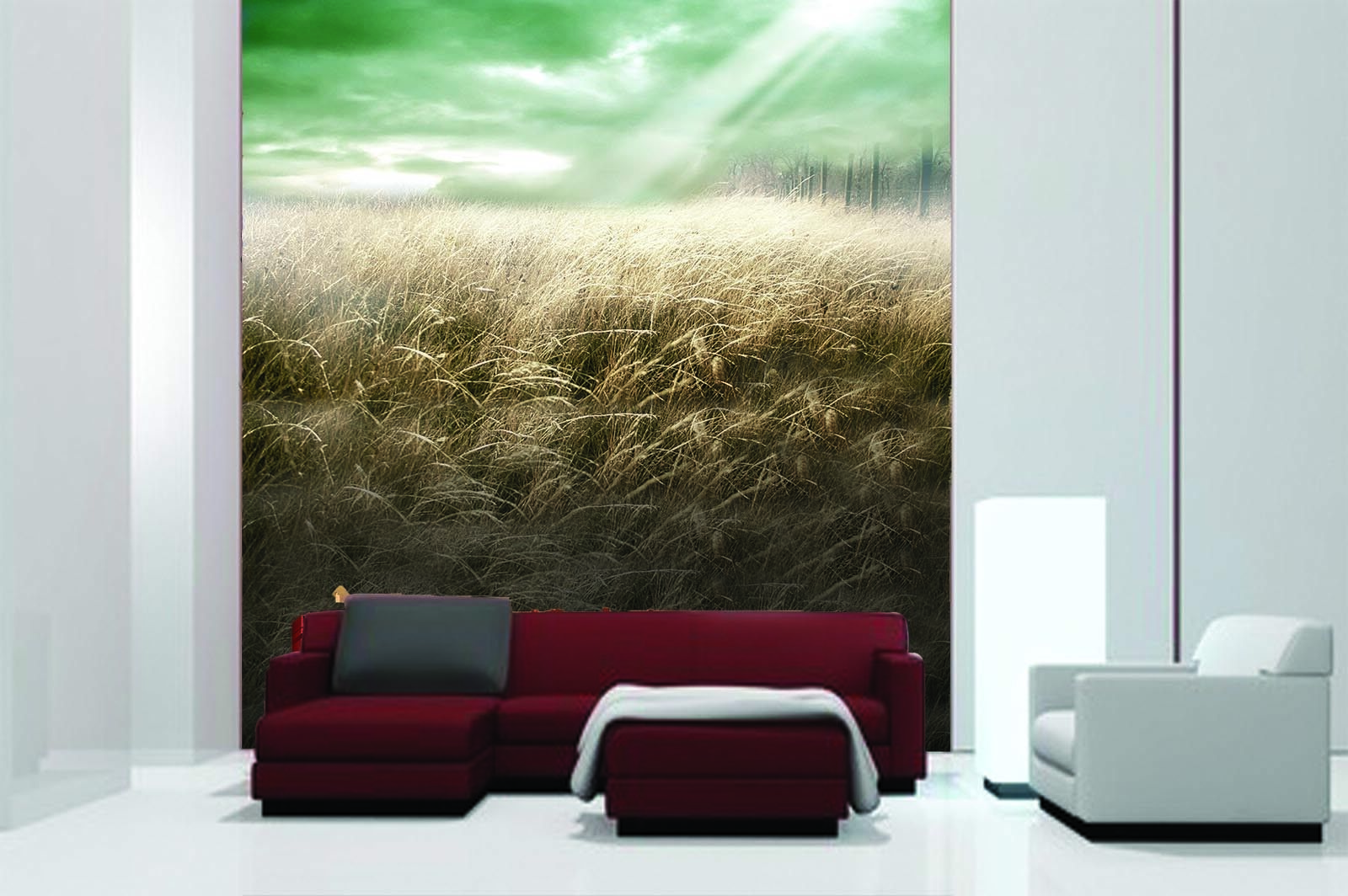 3d Sunshine Rice Field 97 Wallpaper Mural Wallpaper Wallpaper Picture Family De
