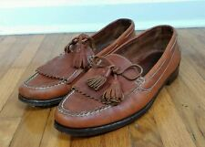 Vtg Abercrombie & Fitch Leather Penny Loafer Slip Fishing Boat Shoes Brazil 10.5