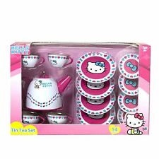 Hello Kitty Tin Tea Party Set New Play Pretend Kids Children Toys Gift Cute Fun