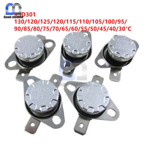 KSD301 10A 250V 120°C 248°F Thermostat Temperature Switch Thermal control Switch