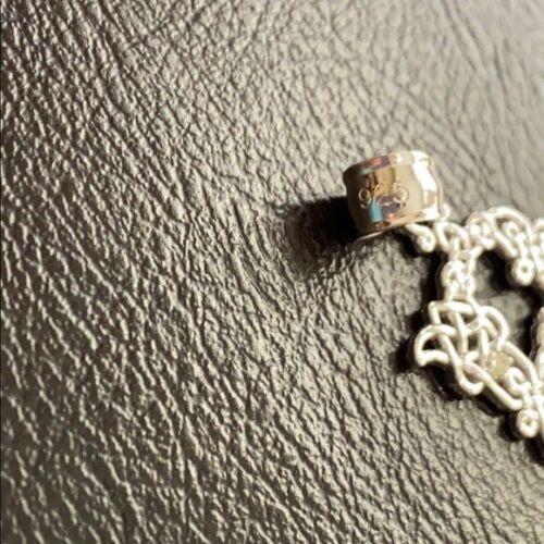 Details about  /Sterling Silver CZ Celtic Knot Pattern Initial Letter L Pendant Charm Necklace