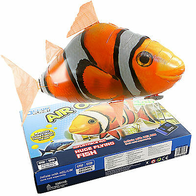 Remote Radio Control RC Inflatable Balloon Air Swimmers Flying Nemo Shark Blimps