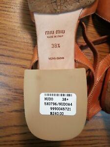 7491582ce4d9 MIU MIU MIUMIU Brand New Vero Cuoio Made In Italy Shoes 38.5