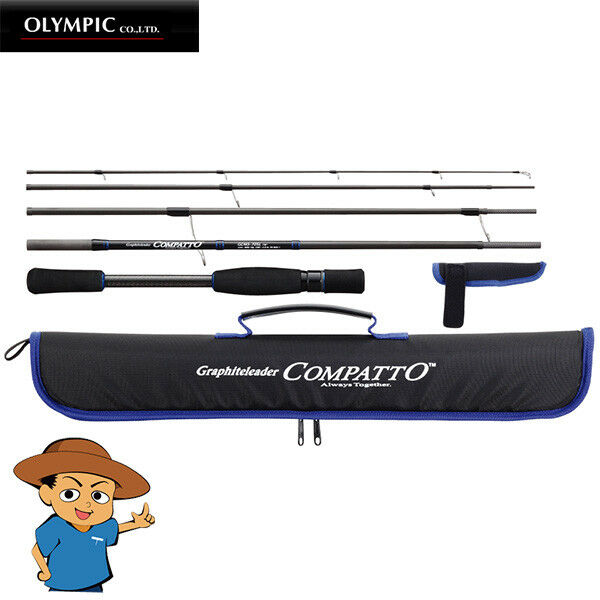 Olympic COMPATTO GCMS-745M Medium 7'4  fishing spinning compact travel rod 5pcs