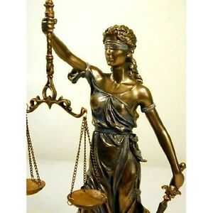 Image is loading Blind-Lady-Justice-Statue-Scale-Bronze-Finish-Lawyer- 6d12304659