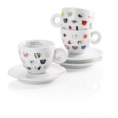 illy cappuccino Cup and Saucer made in Ipa Italy