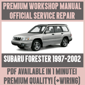 Details about *WORKSHOP MANUAL SERVICE & REPAIR GUIDE for SUBARU FORESTER on