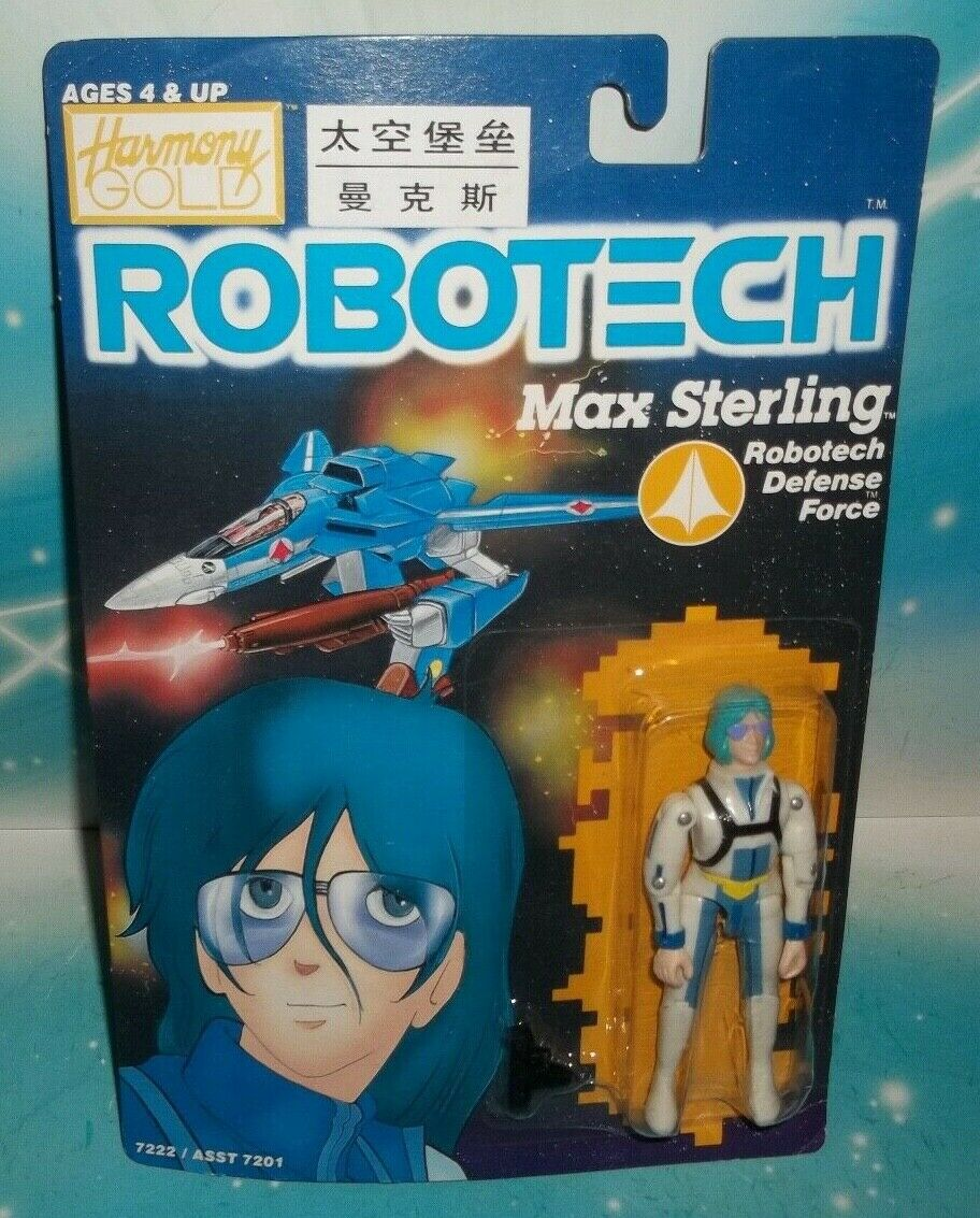 ROBOTECH VINTAGE DEFENSE FORCE PILOT MAX STERLING FIGURE1985 MTCHBX HARMONY gold
