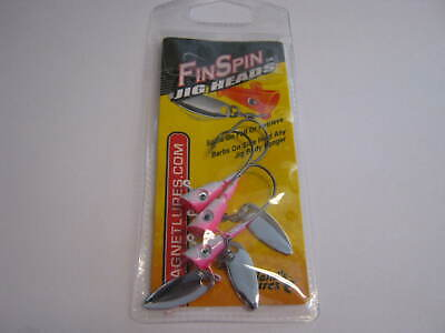 Crappie Magnet Finn Spin Jigs 3 per pack 1//8 oz chart//white