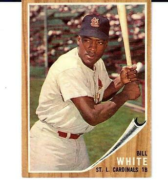 1962 Topps # 14 Bill White St. Louis Cardinals - EX-NM+