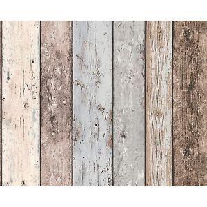 Neu-England-Holzplatte-Effekt-Tapete-Blau-amp-Weiss-8550-39-a-S-Creation