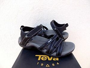 5d359fad1016a2 Image is loading TEVA-TIRRA-BLACK-METALLIC-STRAPPY-SPORT-WATER-SANDALS-
