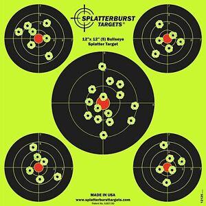 Shooting-Targets-12-034-Reactive-Splatter-Glow-Shot-Rifle-Florescent-Paper-Target